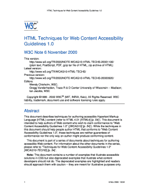HTML Techniques for Web Content Accessibility Guidelines 1.0 - w3