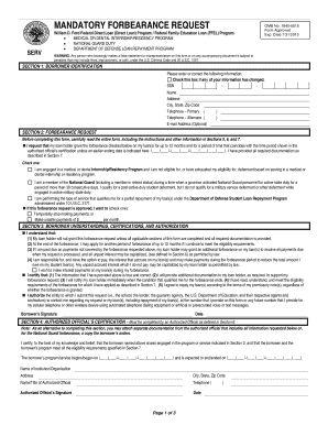 Mandatory Forbearance Request - Fill Online, Printable, Fillable ...