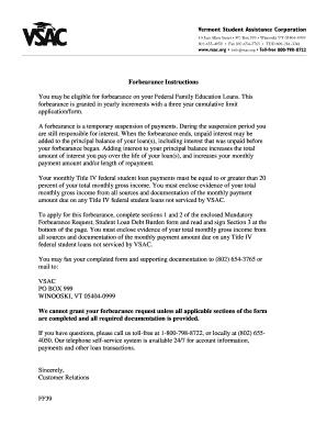 Mandatory Forbearance Request Writable Pdf Form
