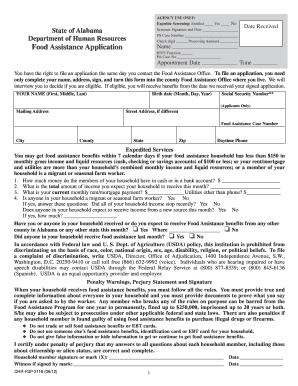 State Of Alabama Food Stamp Application