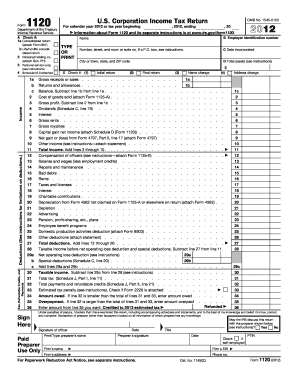 2012 form 1120 instructions