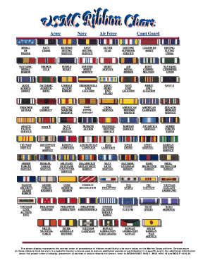 usmc ribbon chart form