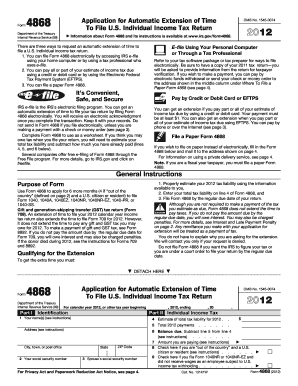 2012 extension form