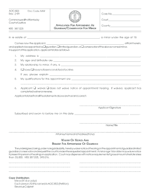 AOC-853 Rev. 2-99 Commonwealth of Kentucky Court of ... - Forms