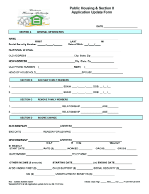 Section 8 Application Ma