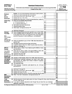 2012 form irs 1040 schedule a fill online printable