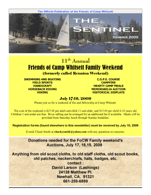 Friends of Camp Whitsett Family Weekend
