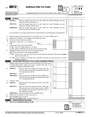 Printables Form 8812 Worksheet 2011 2017 form irs 8812 fill online printable fillable blank 8812