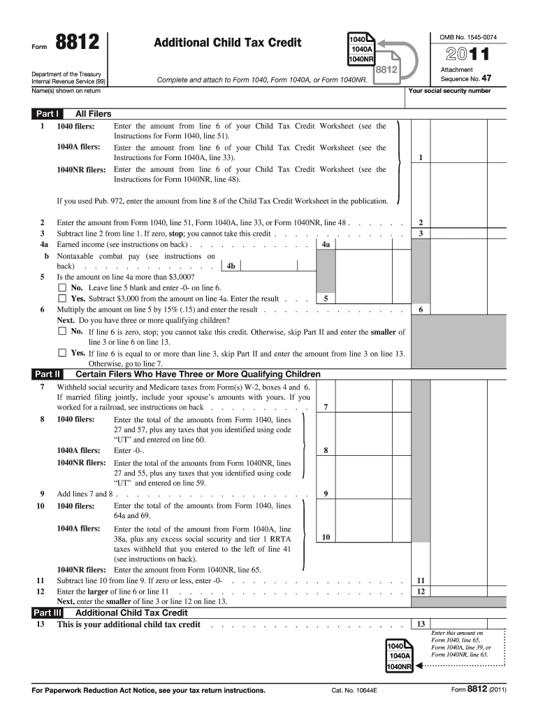2017 2020 Form Irs 8812 Fill Online