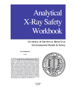 Analytical X-Ray Safety Workbook - Environmental Health & Safety ... - ehs ucsc