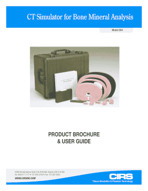 Model 004 Brochure & User Guide - CIRS