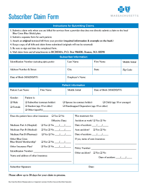 Massachusetts Claim Form - Fill Online, Printable, Fillable, Blank ...