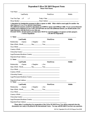 Fillable Online louisville I-20 or IAP-66 REQUEST FORM Fax Email ...
