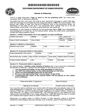 Fillable Online okdhs Form 03PA210E (CSED-209-D). Denial of ...
