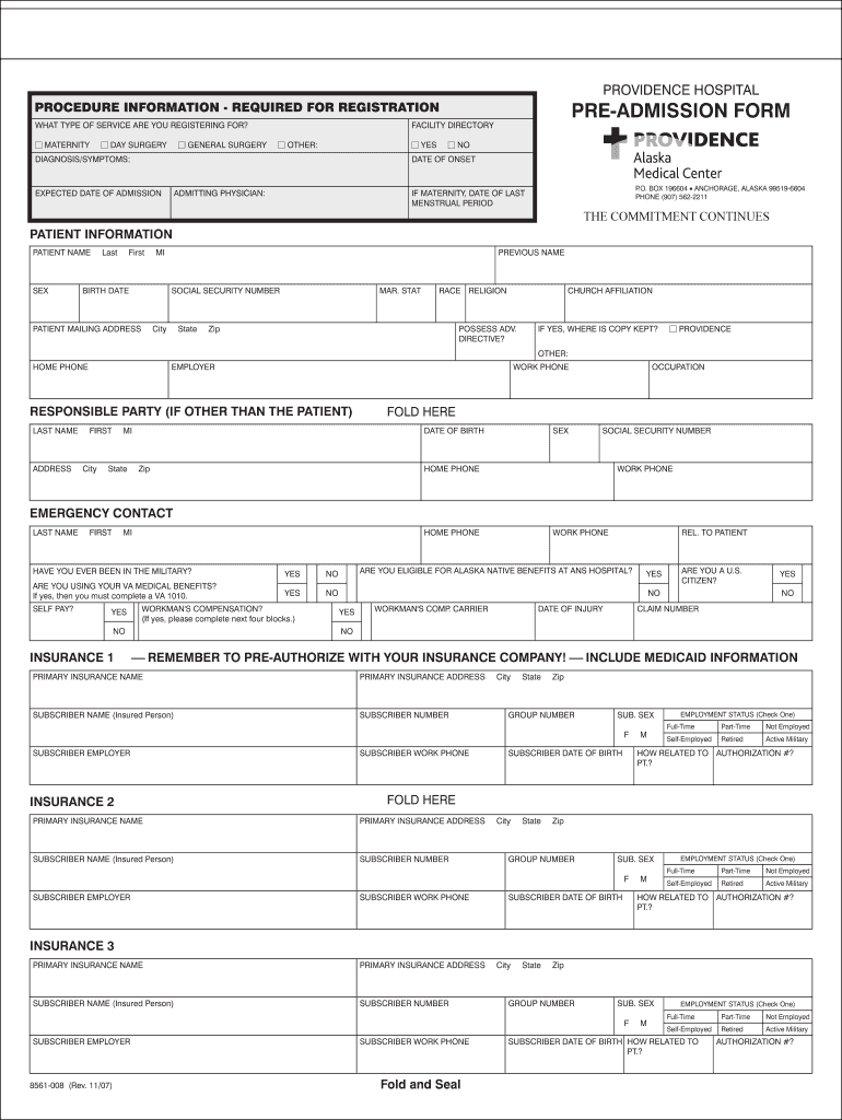 photo regarding Printable Hospital Discharge Forms titled Blank Healthcare facility Discharge Papers - Fill On-line, Printable