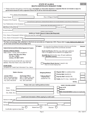 Death certificate template forms fillable printable samples alaska death certificate form yadclub Image collections
