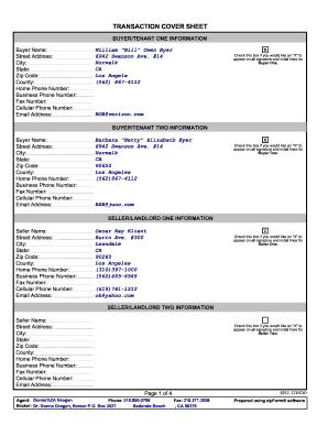 real estate transaction coordinator checklist pdf Winforms Transaction Cover Sheet - Fill Online, Printable, Fillable ...