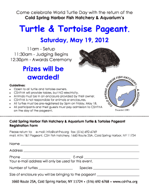Turtle & Tortoise Pageant - Cold Spring Harbor Fish Hatchery ... - cshfha