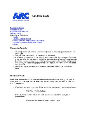 asa format example