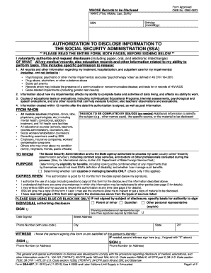 Social Security Administration Form | 2012 2019 Form Ssa 827 Fill Online Printable Fillable Blank