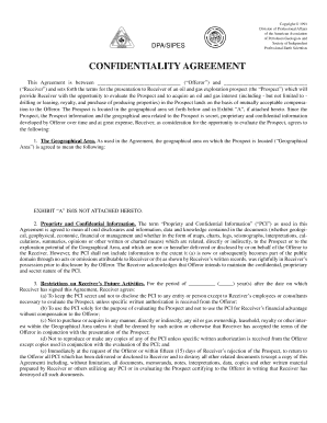 Confidentiality Agreement Form - SIPES - old sipes