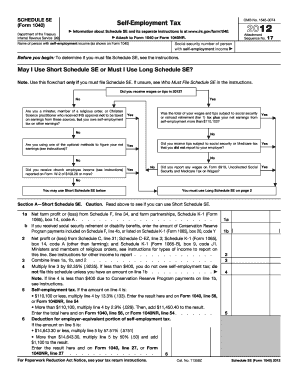 2012 Form IRS 1040 - Schedule SE Fill Online, Printable, Fillable ...