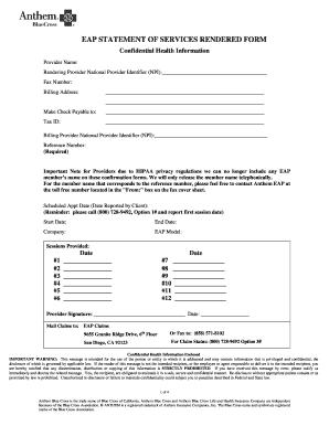 printable billing statement