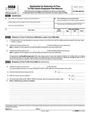 form 5558 pdf  15 Form IRS 15 Fill Online, Printable, Fillable, Blank ...
