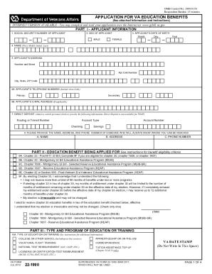 form 22 1990 2014-2018 Form VA 22-1990 Fill Online, Printable, Fillable, Blank ...