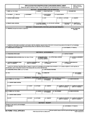 18 Printable Dd Form 1172 2 Instructions Templates Fillable