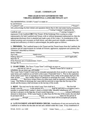 lease common law form