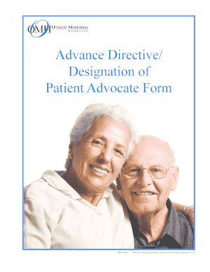 Advance Directive and Patient Advocate Form - myomh