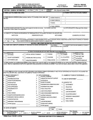 Get fema 119 25 1 application 2012-2017 form - PDFfiller