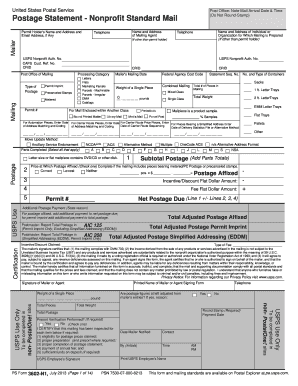2013-2017 Form USPS PS 3602-N1 Fill Online, Printable, Fillable ...