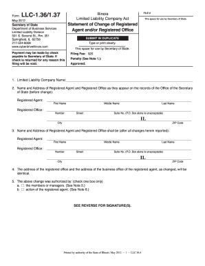 2012-2017 Form IL LLC-1.36/1.37 Fill Online, Printable, Fillable ...