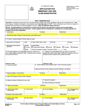 2012-2017 Form DS-230 Fill Online, Printable, Fillable, Blank ...