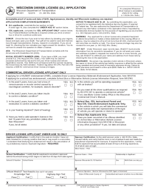 2012 2018 form wi dot mv3001 fill online printable for Wisconsin drivers license template