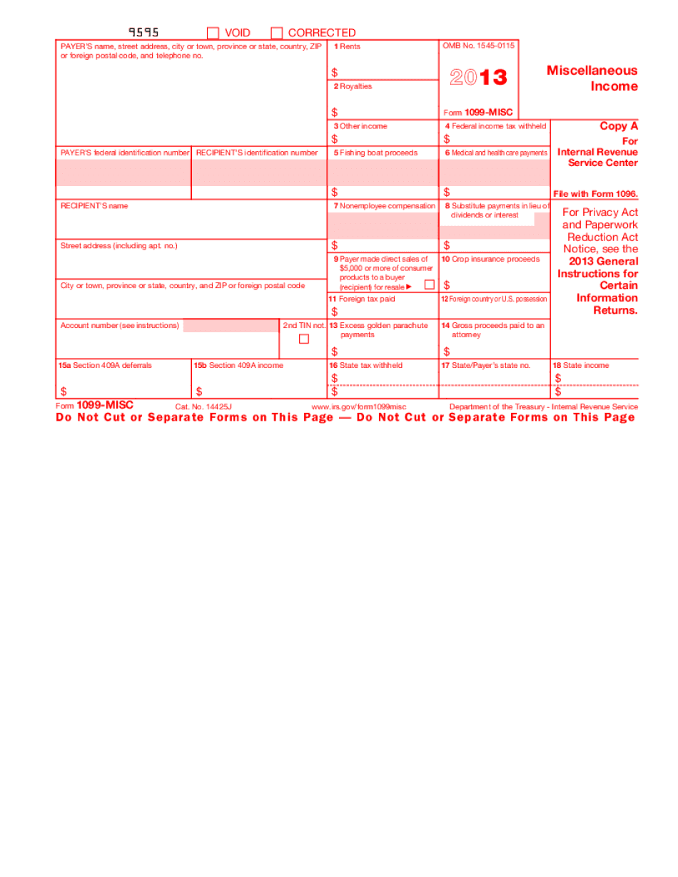 free fillable 1099 misc form 2017