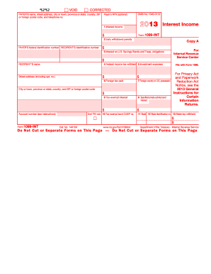 1099 int 2013 form