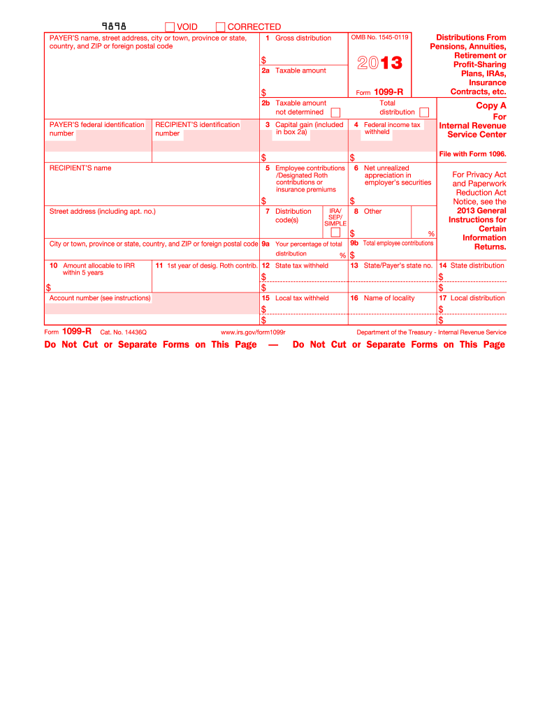 1099 r form  11 Form IRS 11-R Fill Online, Printable, Fillable, Blank ...