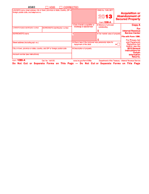 1099a 2013 form