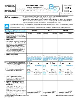 2013 EIC Tax Form Blank
