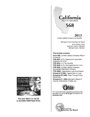 2013 Form Ca Ftb 568 Bk Fill Online Printable Fillable Blank