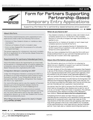 inz 1198 immigration form - PDFfiller