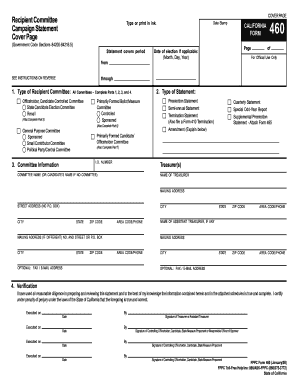Form 460 - Fill Online, Printable, Fillable, Blank | PDFfiller
