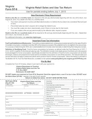 2013-2017 Form VA DoT ST-9 & ST-9A Fill Online, Printable ...