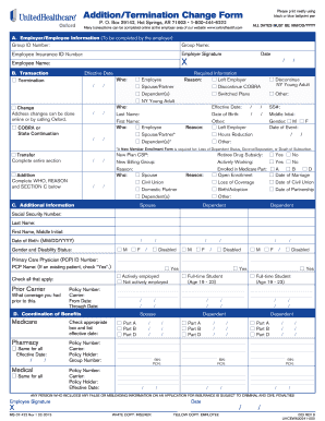termination form template