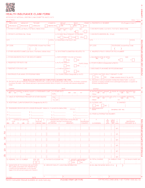 2012-2017 Form CMS 1500 Fill Online, Printable, Fillable, Blank ...
