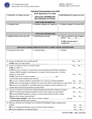 2013 Form DoL ETA 9061 Fill Online, Printable, Fillable, Blank ...