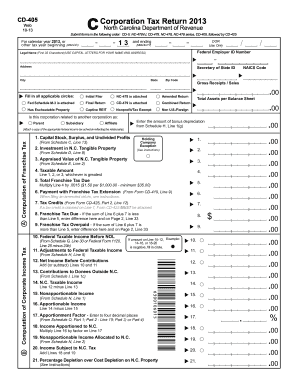 2013 Form NC DoR CD-405 Fill Online, Printable, Fillable, Blank ...